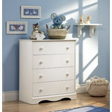 Chest - 4-Drawer Chest in Pure White - South Shore Furniture - 3680034