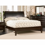 Queen Size Platform Bed - Phoenix Queen Size Platform Bed in Rich Deep Cappuccino - Coaster - 200410Q