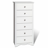 6 Drawer Lingerie Chest in White - Monterey Collection - Prepac Furniture - WDC-2354