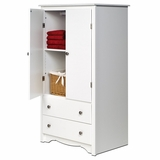 Armoire in White - Monterey Collection - Prepac Furniture - WDC-3359