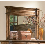 Mirror - Edgewood Mirror in Warm Brown Oak - Coaster - 201624
