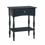 End Table in Black - Shaker Cottage - Alaterre - ASCA01BL