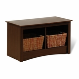 Small Twin Cubbie Bench in Espresso - Prepac Furniture - ESC-3620