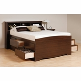 Tall Queen Size Platform Bed with Headboard - Prepac Furniture - EBQ-6212-SET-1