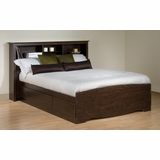 Full Size Platform Bed with Headboard - Prepac Furniture - EBD-5600-SET