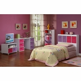 Kids Bedroom Furniture Set in White - 4D Concepts - 12400-SET