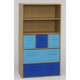 Boy's Storage Bookcase in Beech - 4D Concepts - 12355