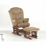 Two Post Glider and Ottoman Combo - Dutailier - C00-62A