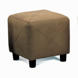 Foot Stool in Mocha Microfiber - Coaster
