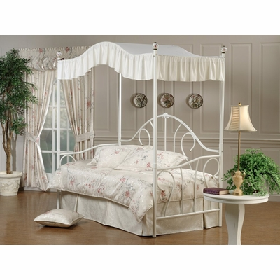 Daybed Bristol Metal Canopy Daybed In White