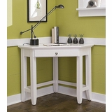 Naples Corner Lap Top Desk in White - Home Styles - 5530-17