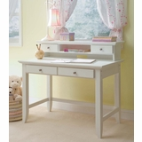 Naples Student Desk with Hutch in White - Home Styles - 5530-162