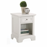 Naples Night Stand in White - Home Styles - 5530-42