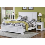 Naples Queen Size Bed with Night Stand in White - Home Styles - 5530-5013