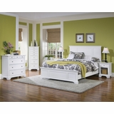 Naples Queen Size Bed, Night Stand, and Drawer Chest in White - Home Styles - 5530-5014
