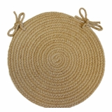 Tapestry Wheat 15 Braided Chair Pad - Rhody Rug - TA-5215CPWH