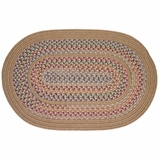 Tapestry Wheat 3'x5' Braided Rug - Rhody Rug - TA-5235WH