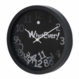 Whatever 3D Wall Clock in Black / White - 1039-3D-BLACK