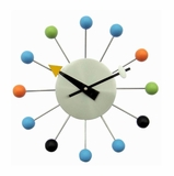 George Nelson Wooden Ball Wall Clock - 1547COLOR
