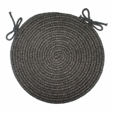 Tapestry Black 15 Braided Chair Pad - Rhody Rug - TA-8215CPBL