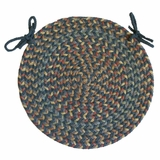 Blossom Blue 15 Braided Chair Pad - Rhody Rug - BL-9715CPBL