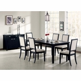 8-Piece Dining Set in Distressed Black - Coaster