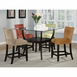10 Piece Dining Set in Cappuccino - Coaster