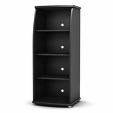 Bookcase in Solid Black - South Shore Furniture - 4270651