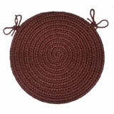 Rio Burgundy 15 Braided Chair Pad - Rhody Rug - RI-4715CPBU