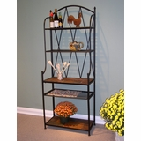 Baker's Rack with Slate Top - 4D Concepts - 601512