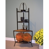 Corner Baker's Rack with Slate Top - 4D Concepts - 601617