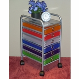 6 Drawer Rolling Storage with Multi Color drawers - 4D Concepts - 363016