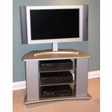 Swivel Entertainment Stand in Silver - 4D Concepts - 44032