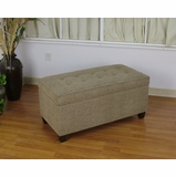 Large Micro fiber Bench in Beige - 4D Concepts - 554538