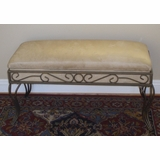 Metal Upholstered bench in Beige - 4D Concepts - 553880