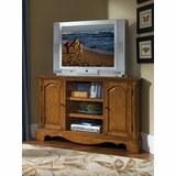 Country Casual Corner Entertainment TV Stand in Oak - Home Styles - 5538-07