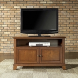 Newport 42 TV Stand in Classic Cherry Finish - Crosley Furniture - KF10003CCH