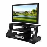 47 Flat Panel Plasma LCD HD TV Stand / Media Console Center in Glossy Black - TVS-827-1
