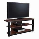 55 Flat Panel Plasma LCD HD TV Stand / Media Console Center in Black / Walnut - TVS-586-2