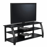 60 Flat Panel Plasma LCD HD TV Stand / Media Console Center in Glossy Black - TVS-6851400-2