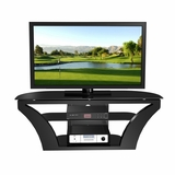 55 Flat Panel Plasma LCD HD TV Stand / Media Console Center in Glossy Black - TVS-889-2