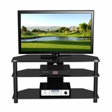 47 Flat Panel Plasma LCD HD TV Stand / Media Console Center in Glossy Black - TVS-973
