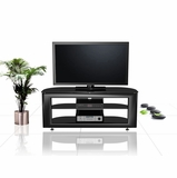 55 Flat Panel Plasma LCD HD TV Stand / Media Console Center in Glossy Black - TVS-648400-2