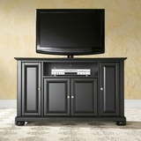 Alexandria 48 TV Stand in Black Finish - Crosley Furniture - KF10002ABK