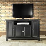 Newport 48 TV Stand in Black Finish - Crosley Furniture - KF10002CBK