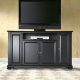 Alexandria 60 TV Stand in Black Finish - Crosley Furniture - KF10001ABK