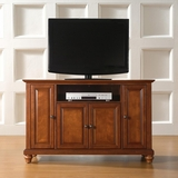 Cambridge 48 TV Stand in Classic Cherry Finish - Crosley Furniture - KF10002DCH