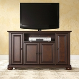 Alexandria 48 TV Stand in Vintage Mahogany Finish - Crosley Furniture - KF10002AMA
