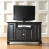 Cambridge 48 TV Stand in Black Finish - Crosley Furniture - KF10002DBK