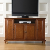 Cambridge 60 TV Stand in Classic Cherry Finish - Crosley Furniture - KF10001DCH